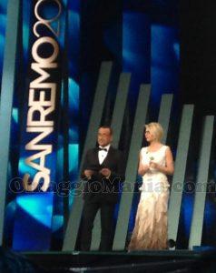 Carlo Conti e Maria De Filippi al Festival di Sanremo