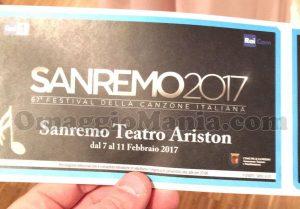 biglietti gratis per il Festival di Sanremo 2017 al Teatro Ariston