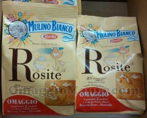 biscotti Rosite Mulino Bianco omaggio