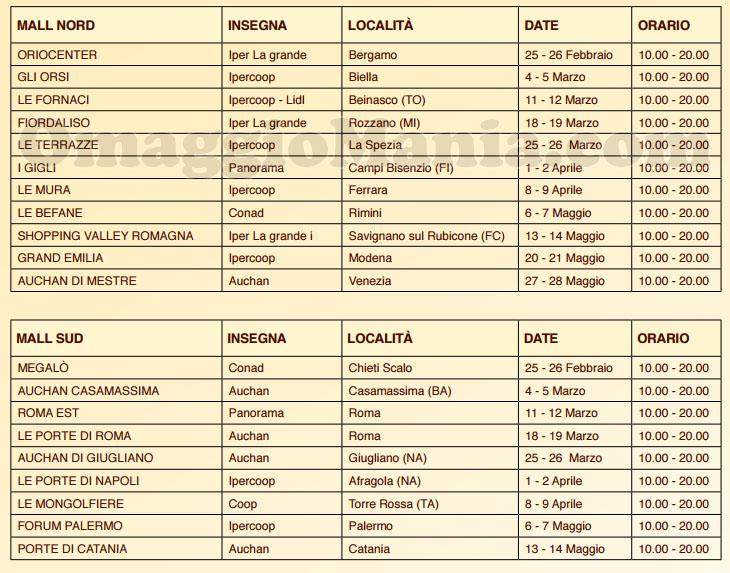 calendario kit colazione personalizzata Mulino Bianco