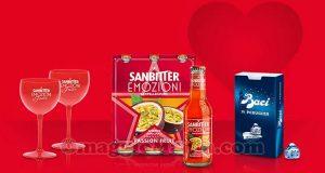 calici da aperitivo omaggio con Sanbitter e Baci Perugina