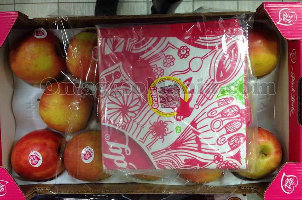 cassetta di mele Pink Lady con shopper omaggio