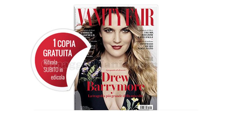 coupon copia omaggio Vanity Fair 5 2017