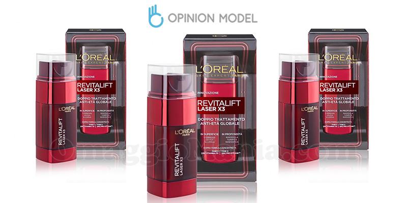 diventa tester L'Oréal Revitalift Laser x3 doppio trattamento