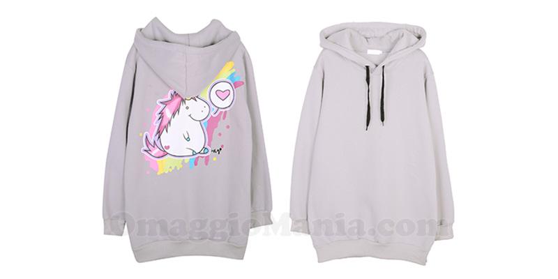 felpa unicorno Lesara