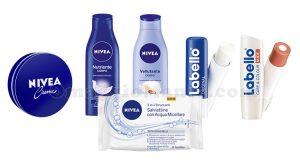kit prodotti Nivea e Labello