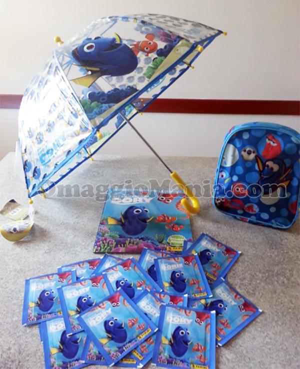 kit zainetto, ombrellino e kit Panini Alla ricerca di Dory di Sabry77