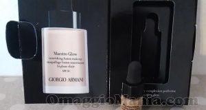 minitaglia fondotinta Giorgio Armani Maestro Glow di Lidia