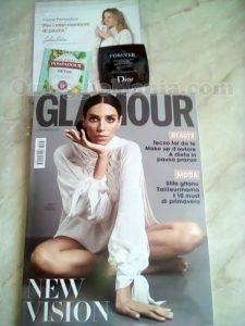 rivista Glamour 296 di Arya con campioni omaggio Dior e Pompadour