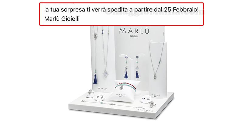sorpresa Marlù Gioielli aggiornamento spedizione