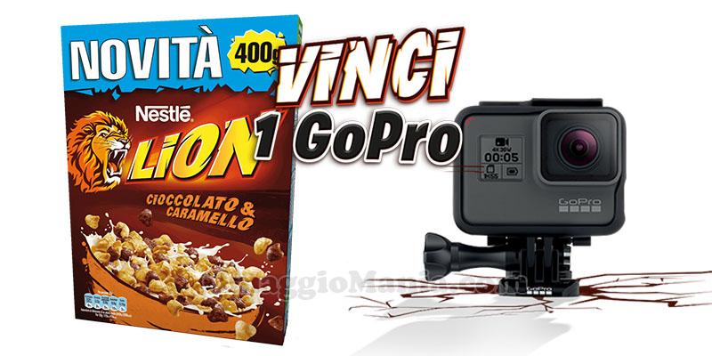vinci GoPro con i cereali Lion Nestlé
