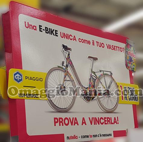 vinci e-bike Piaggio con Nutella anticipazione di Simona