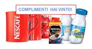 vincita set colazione Nescafè Latte Candia