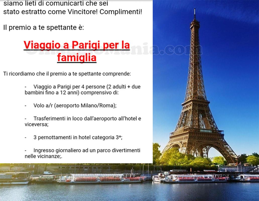 vincita viaggio a Parigi di Petrica