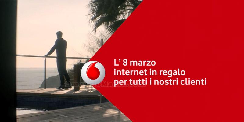 8 marzo internet in regalo Vodafone 2017