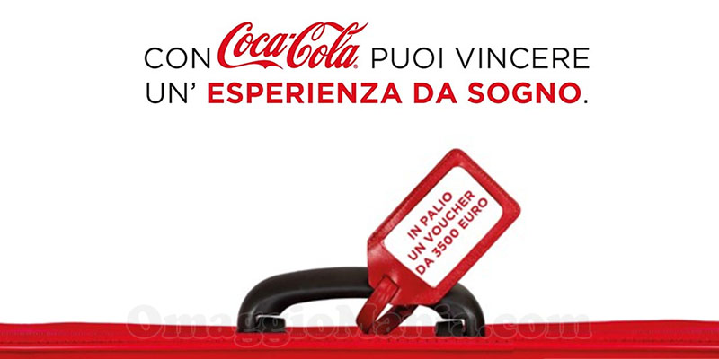 Con Coca-Cola puoi vincere un'esperienza da sogno