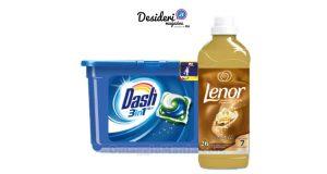 Dash PODS 3in1 e Lenor Concentrato
