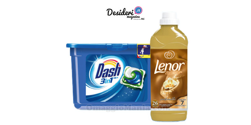 Dash PODS 3in1 e Lenor Concentrato