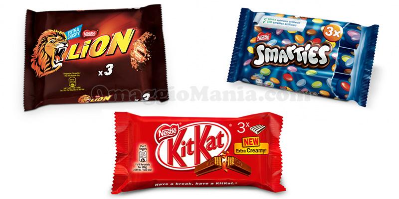 Lion, Smarties, KitKat
