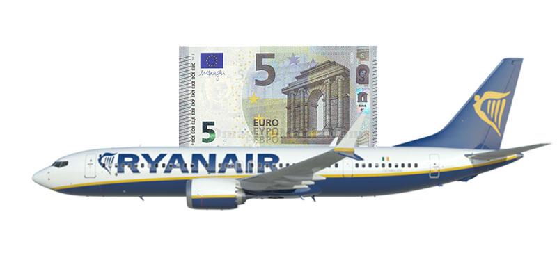 Ryanair 100.000 posti 5 euro