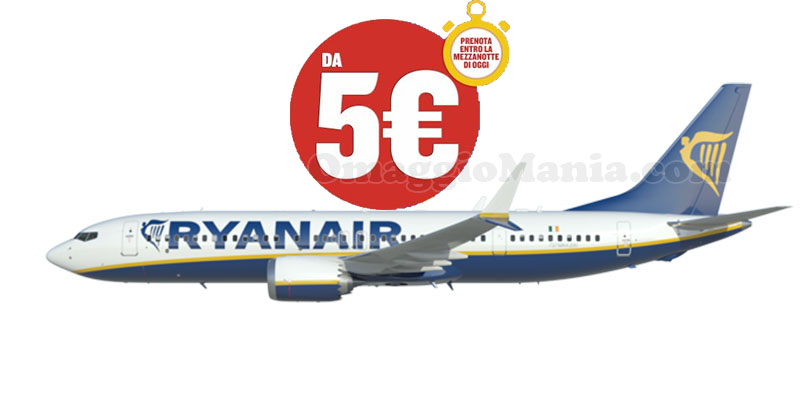 Ryanair 60.000 posti da 5 euro