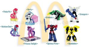Transformers e My Little Pony Happy Meal 2017
