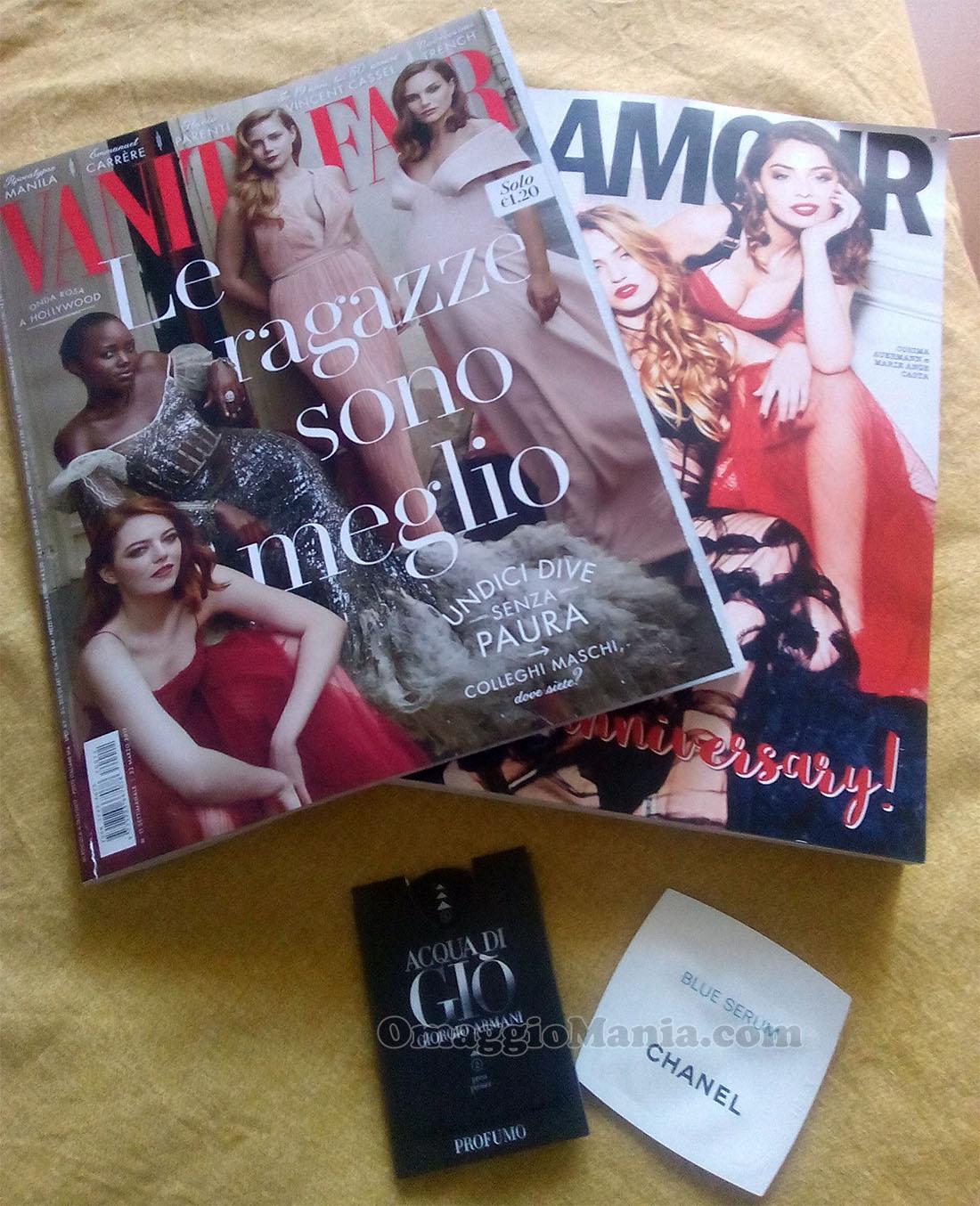 Vanity Fair 11 e Glamour 297 di Fede