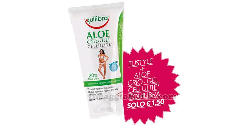 anticipazione TuStyle con Aloe Crio-Gel Cellulite Equilibra