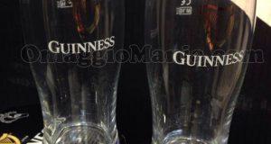 bicchieri Guinness omaggio