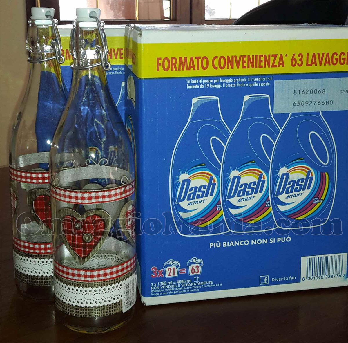 bottiglie in vetro omaggio con Dash di Vanesita