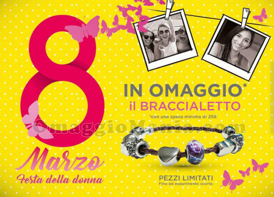 braccialetto omaggio da Tigotà per la Festa della Donna 2017