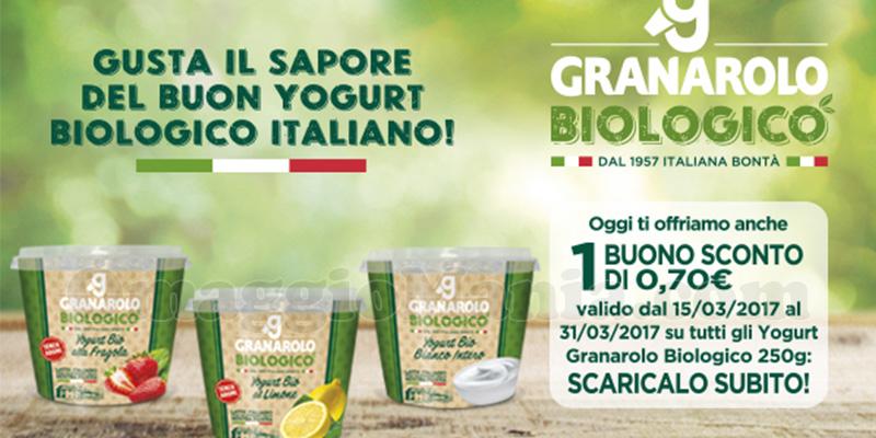 buono sconto yogurt biologici Granarolo