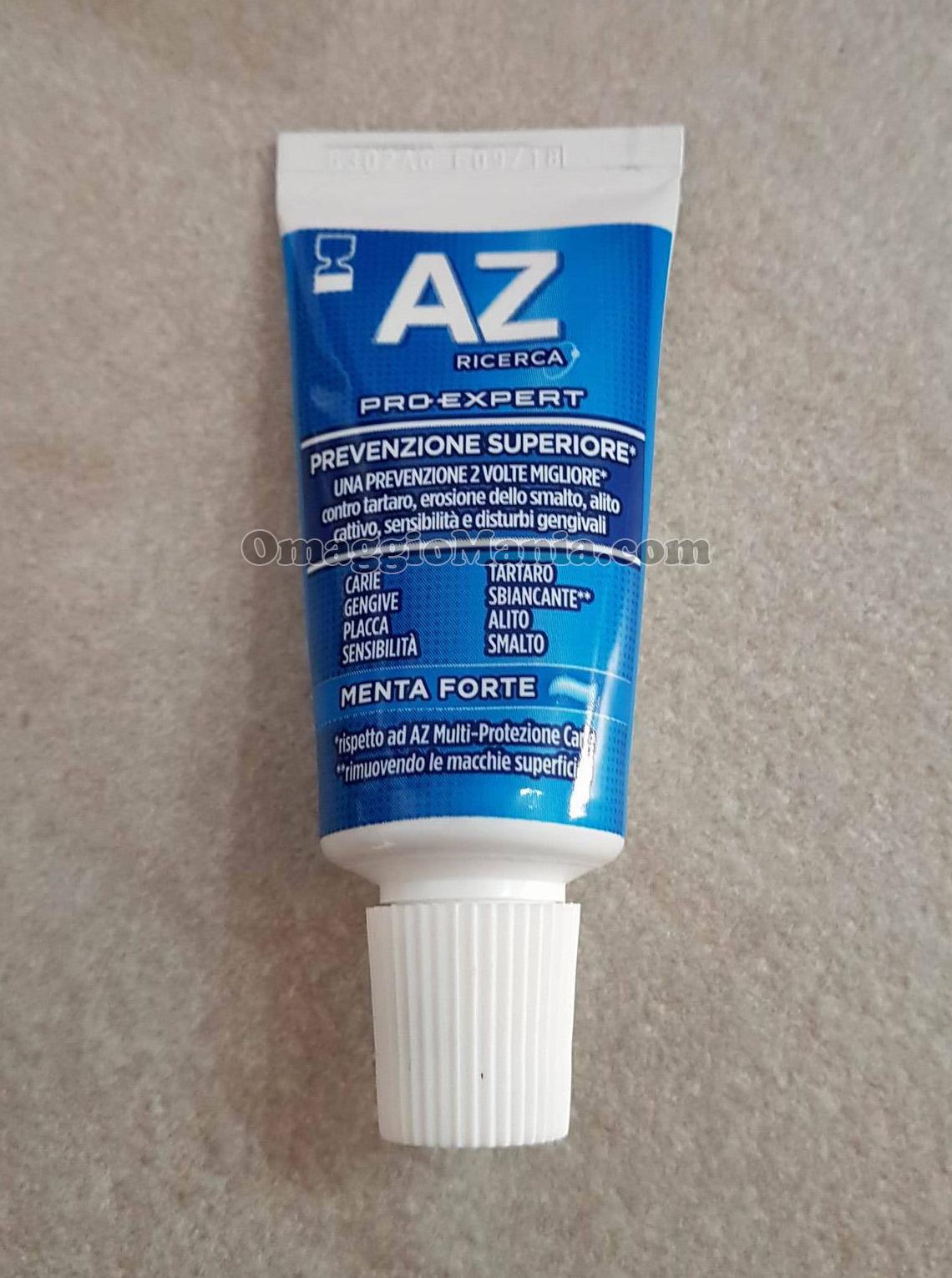campione omaggio dentifricio AZ Pro-Expert Prevenzione Superiore di Salvatrice