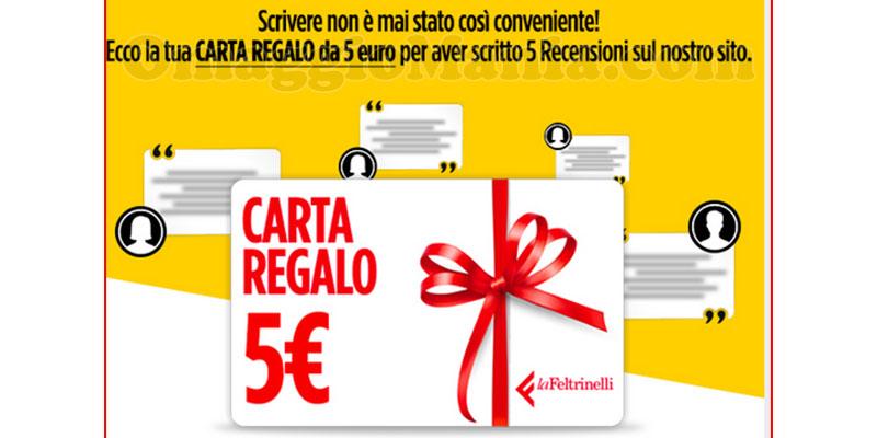 carta regalo La Feltrinelli 5€ ricevuta da Stefano