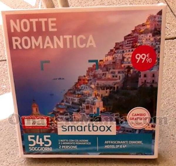 cofanetto Smartbox Notte Romantica di Emanuela con Lovesong