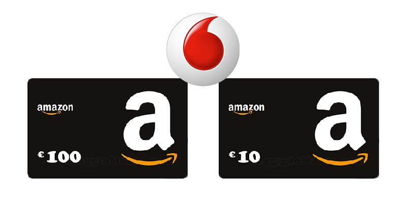 concorso Vodafone vinci buoni Amazon