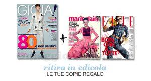 coupon copie omaggio riviste Gioia, Marie Claire e Elle