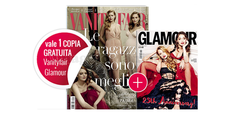 coupon omaggio Vanity Fair 11 e Glamour 297