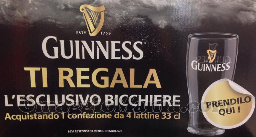 espositore Guinness ti regala l'esclusivo bicchiere