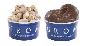 gelati GROM pistacchio e cioccolato Perù
