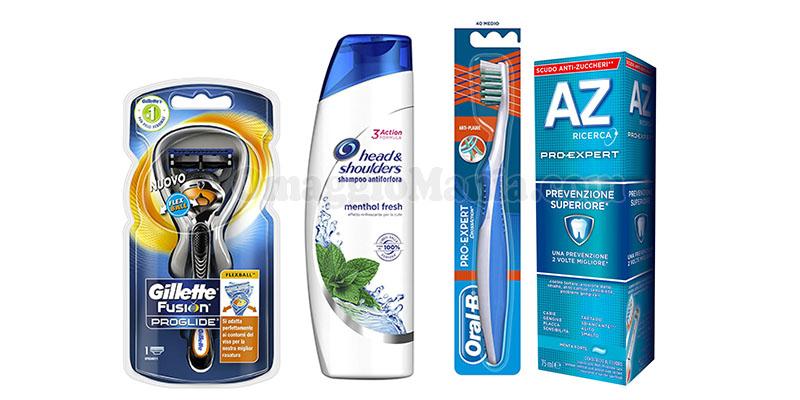kit prodotti P&G uomo