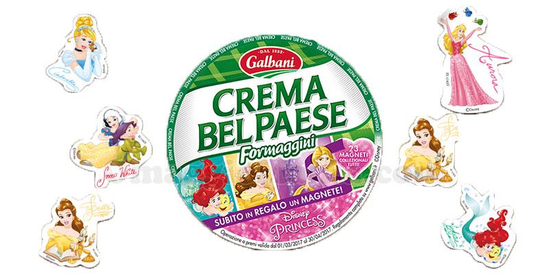 magneti Disney Princess omaggio con Crema Bel Paese Galbani