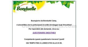 sondaggio Bonduelle Camp Smoothies marzo 2017