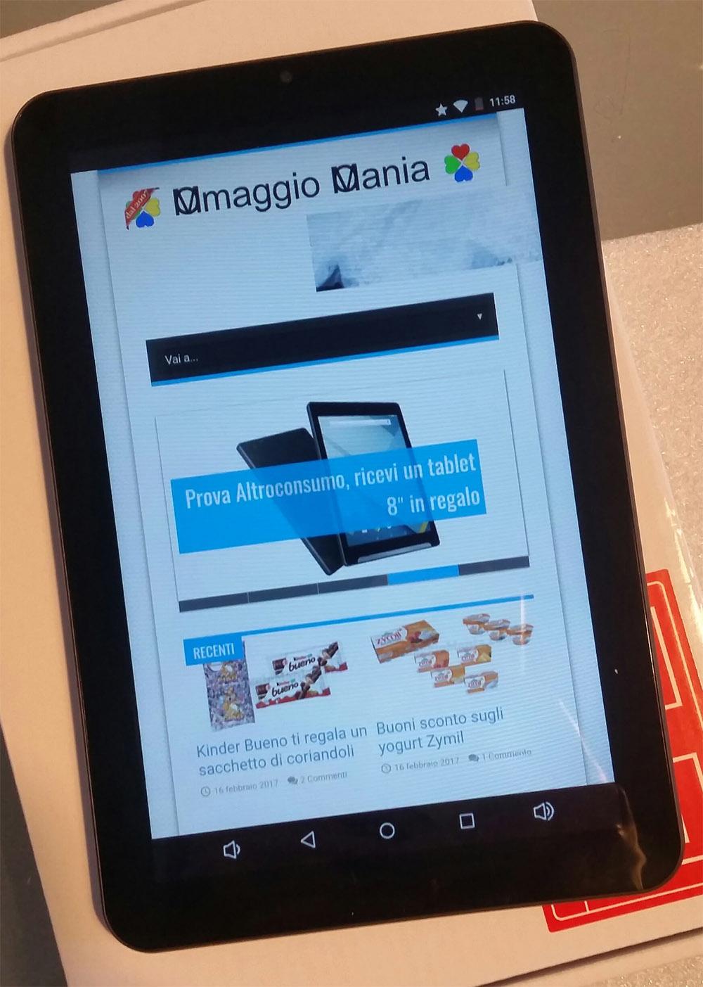 tablet di Altroconsumo di Se