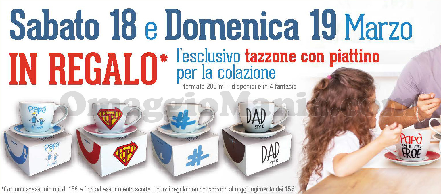 tazzone con piattino Acqua&Sapone Festa del Papà 2017