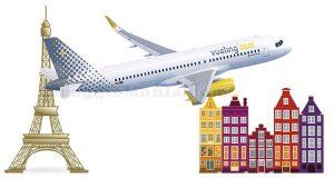 vinci voli Vueling Amsterdam Parigi
