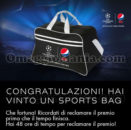 vincita Sports Bag Pepsi di Miriam