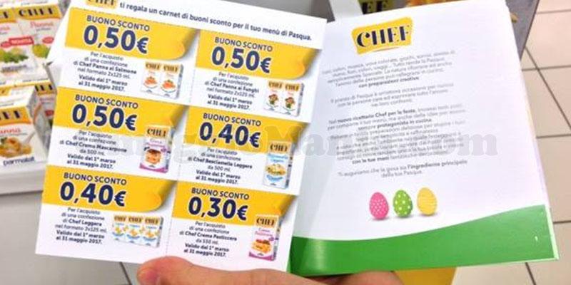 Chef ti regala un carnet di buoni sconto per il tuo menù di Pasqua