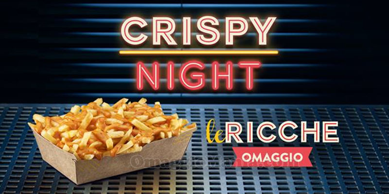 Crispy Night patatine Le Ricche omaggio