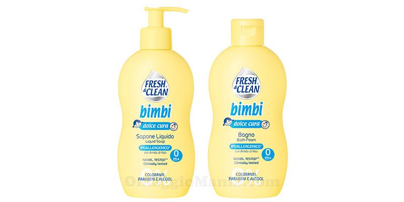 Sapone liquido e bagno Bimbi Fresh&Clean